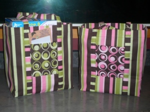 fabric shopping bags
