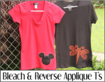 Bleach and Reverse Applique Ts