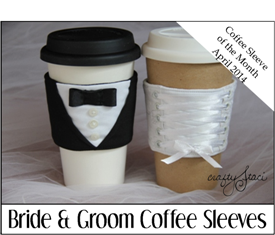 Bride and Groom Coffee Sleeves