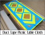 Duct Tape Picnic Table Cloth