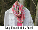 Easy Floral Infinity Scarf