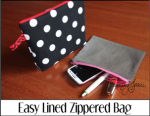 Easy Lined Zippered Bag