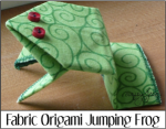 Fabric Origami Jumping Frog