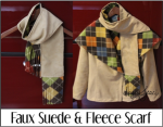 Faux Suede and Fleece Scarf