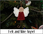 Felt and Wire Angel
