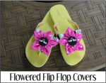 Flowered Flip Flop Covers