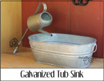 Galvanized Tub Sink