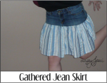 Gathered Jean Skirt