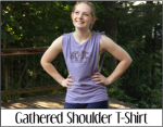 Gathered Shoulder T-Shirt