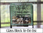 Glass Block To Do List