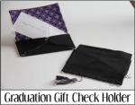 Graduation Gift Check Holder