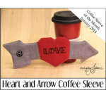 Heart and Arrow Coffee Sleeve - Crafty Staci