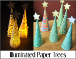 Illuminated Paper Trees