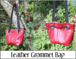 Leather Grommet Bag