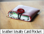 Leather Loyalty Card Pocket