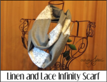 Linen and Lace Infinity Scarf