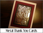 Metal Thank You Cards