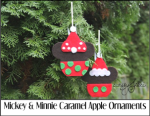 Mickey and Minnie Caramel Apple Ornaments
