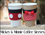 Mickey and Minnie Coffee Sleeves