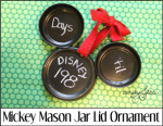 Mickey Mason Jar Lid Ornament