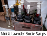 Mint and Lavender Simple Syrups