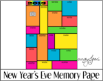 New Year's Eve Memory Page