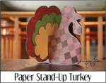 Paper Stand Up Turkey