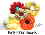 Puffy Fabric Flowers