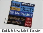 Quick and Easy Fabric Coaster