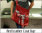 Red Leather Coat Bag