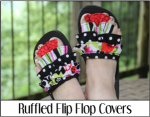 Ruffled Flip Flop Covers