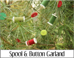 Spool and Button Garland