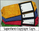 Superhero Luggage Tags