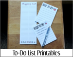To Do List Printables