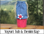 Yogurt Tub and Denim Bag