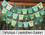 Zippered Christmas Countdown Banner