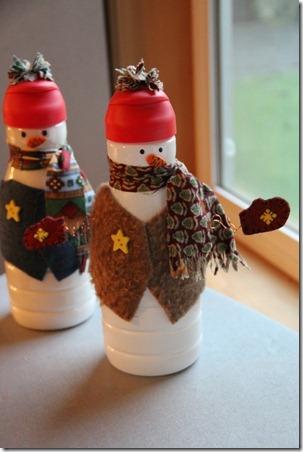 Как сделать новогодние игрушки своими руками. Делаем снеговика из пластиковой бутылки