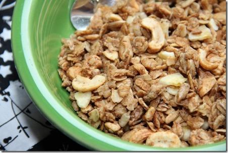 Peanut Butter Cashew Granola 1