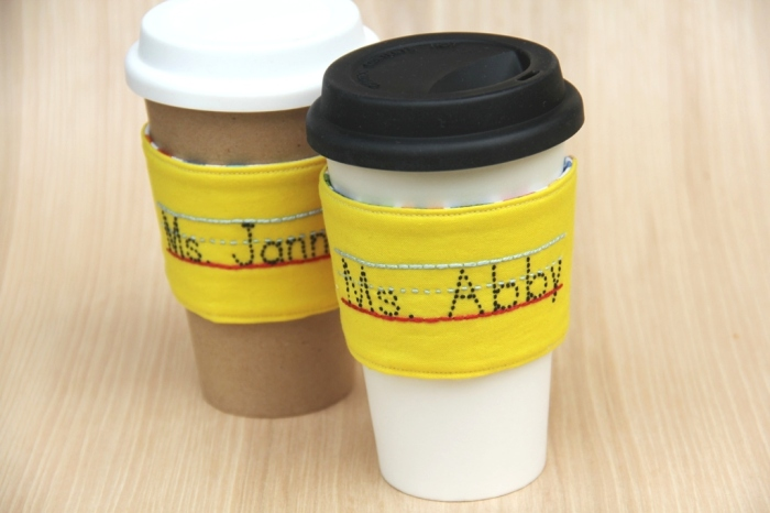 Pencil Coffee Cup Sleeves from CraftyStaci on Etsy