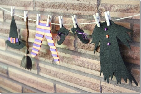 halloween crafts: witch's laundry day