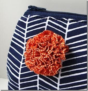 ruffle fabric flower