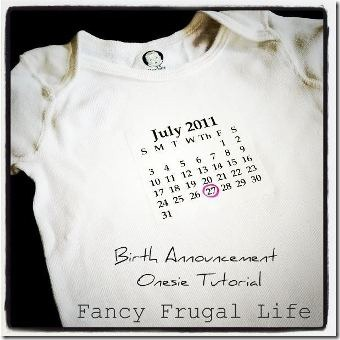 Birth Announcement Onesie 2