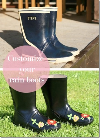 customized rain boots