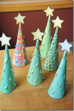 Illuminated Paper Trees 10