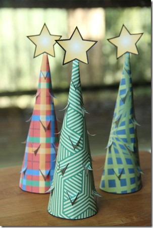 Illuminated Paper Trees 9