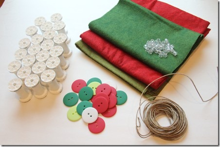 Thread Spool and Button Garland 2