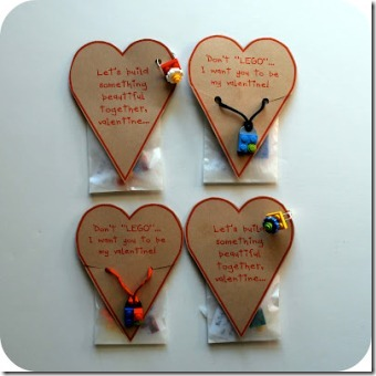 Lego Accessory Valentines from Chez Beeper Bebe