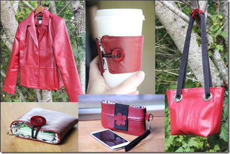 Red Leather Jacket Projects - Crafty Staci