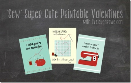 Sew Super Cute Printable Valentines from Live Laugh Rowe