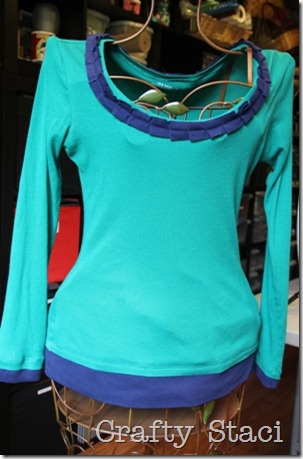 Long Sleeved Shirt Refashion - Crafty Staci 1